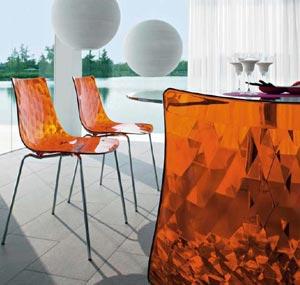 Sedie d 39 arredo per esterno e interno in plastica o for Sedie particolari