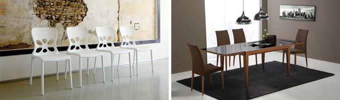 Scegliere la sedia in base al materiale