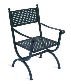 Sedie da esterno per terrazzi e giardini for Sedie da esterno in ferro
