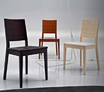 Scegliere la sedia in legno ideale per l 39 arredamento della for Seggiole moderne