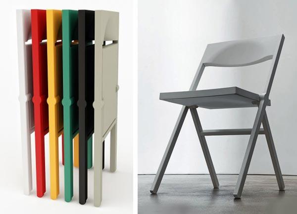 Sedie salva spazio richiudibili pieghevoli o impilabili for Sedie impilabili plastica