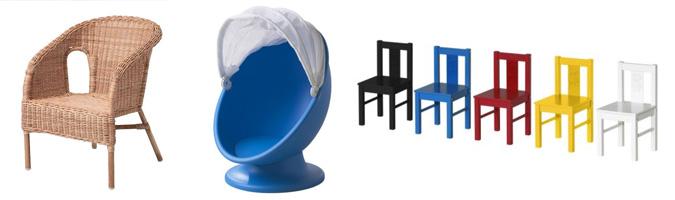 Sedie Ikea adatte ai più piccoli